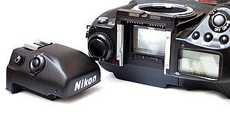 Pentaprism - Image: Nikon F5 Prism 2485