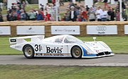 A Group C Nimrod NRA/C2 which used Aston Martin's V8 engines in the 1980s.