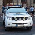 Nissan pathfinder rendőrautó, Andrássy út, autómentes nap, 2018 Terézváros.jpg