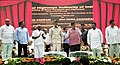 Nitin Gadkari laying the foundation stone and inaugurated the National Highways and Port Connectivity projects, in Visakhapatnam, Andhra Pradesh.JPG