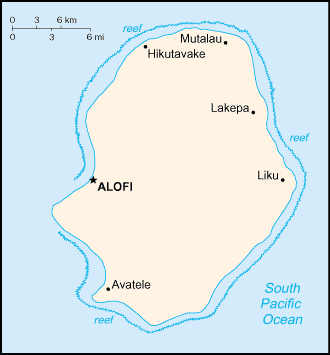 Outline of Niue - An enlargeable map of Niue