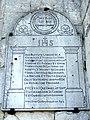 Nointel (60), église Saint-Vaast, bas-côté nord (extérieur), plaque funéraire de Jean-Baptiste Lagache, mort en 1800.JPG