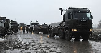 Nordic Battlegroup - Scania P124CB 8x8 DROPS of the Irish Defence Forces