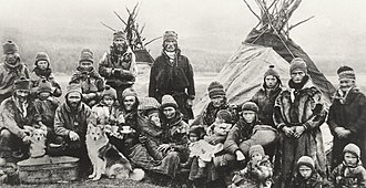 Sámi people - Sami people outside Lavvu 1900–1920