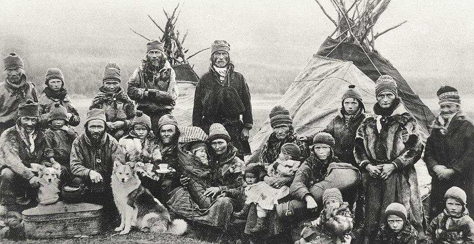Nordic Sami people Lavvu 1900-1920