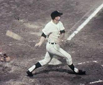 Norm Cash - Cash batting without a helmet