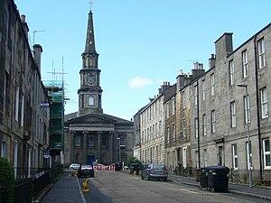 North Leith Parish Church - North Leith Parish Church at the end of Prince Regent Street