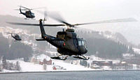 Norwegian military Bell 412SP helicopters