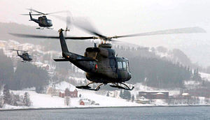 339 Squadron Bell 412 helicopters taking part ...