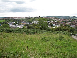 Knowle West - Novers Common, looking west towards Bedminster Down