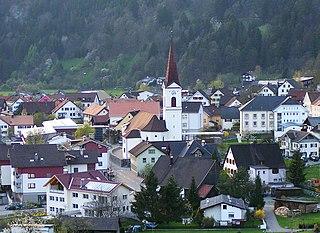 Nüziders Place in Vorarlberg, Austria