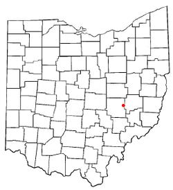 Locatie van New Concord, Ohio