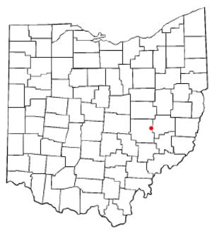 New Concord, Ohio - Image: OH Map doton New Concord