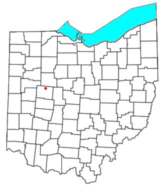 Northwood, Logan County, Ohio - Image: OH Map doton Northwood Logan County