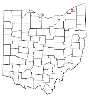 Painesville, Ohio - Image: OH Map doton Painesville