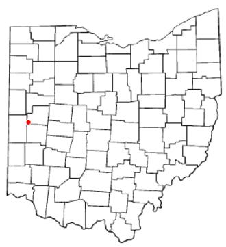 Russia, Ohio - Image: OH Map doton Russia