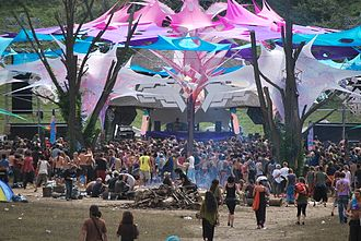 Rave - Rave in Hungary in 2010, showing the fantastical thematic elements at such events.