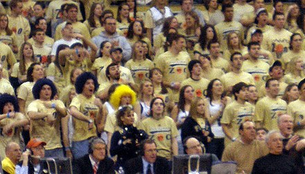 The Oakland Zoo, Pitt basketball's student cheering club OaklandZooPitt.jpg
