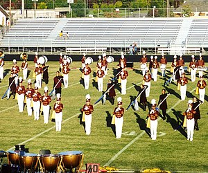 Oakton High School - The Oakton High School marching band at the Lee-Davis Invitational competition, fall 2001