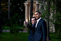 Obama and Medvedev at DAMs dacha after dinner.jpg