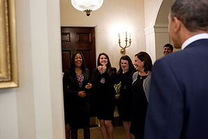Network For Teaching Entrepreneurship - President Barack Obama greets NFTE Challenge finalists at the White House in October 2010.