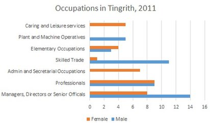 Occupations in Tingrith, 2011