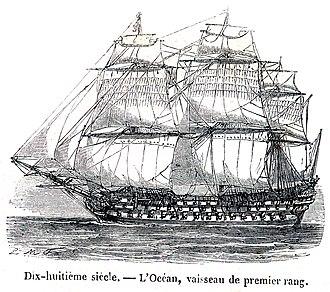 French ship Océan (1790) - Océan