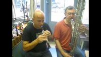 File:Octocontralto clarinet and piccolo A-flat clarinet - Dance of the Sugar Plum Fairy.webm