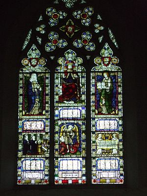 W. H. R. Rivers - Image of the stained glass window of the church in Offham, Kent where Henry Rivers was chaplain from 1880 to 1889