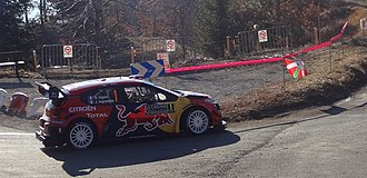 Citroën C3 WRC - Image: Ogier at Basse Correo Stage zoom, Rallye Monte Carlo 2019