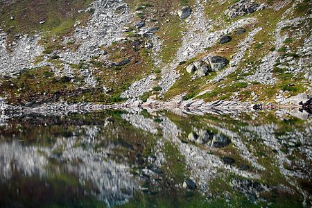 Specular reflection of the Great Pelister Lake