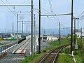 Ohmi Railway Main Line New line switch construction.JPG