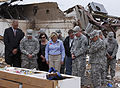 Oklahoma Gov. Mary Fallin, center foreground, leads U.S. Army Gen. Frank J. Grass, second from left, the chief of the National Guard Bureau, on a tour through the Plaza Towers Elementary School in Moore, Okla 130528-Z-VF620-4030.jpg