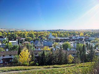 Okotoks Town in Alberta, Canada