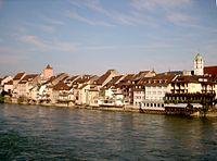 Old-Town of Rheinfelden with the Rhein.JPG