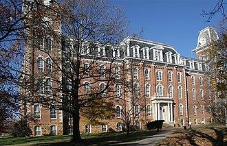 Old Main (University of Arkansas) - Old Main from the front side where Senior Walk begins.