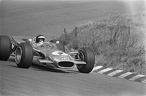 Jackie Oliver - Oliver driving the Lotus 49 at the 1968 Dutch Grand Prix.