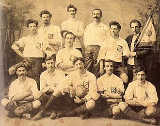 Iraklis 1908 Thessaloniki F.C. - Omilos Filomouson football team in 1905