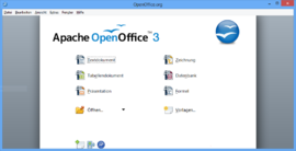 Apache OpenOffice 3.4.1 unter Windows 8