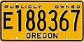 Oregon Exempt Publicly Owned license plate (yellow).jpg