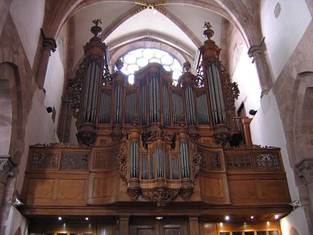 The baroque organ of the Eglise Saint-Thomas OrgueSaintThomasStrasbourg.jpg