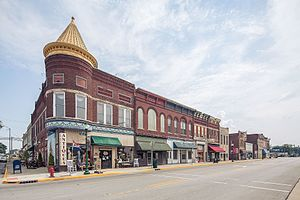 Orleans, Indiana - Orleans' business district