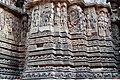 Ornate Wall Panel Relief Hoysaleswara Temple Halebid.jpg