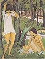 Otto Mueller - Zwei badende Mädchen (Mädchen im Hemd).jpeg