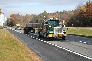 Oversize load - Long Bridge Beam Oversize Load with Pilot Car Escort
