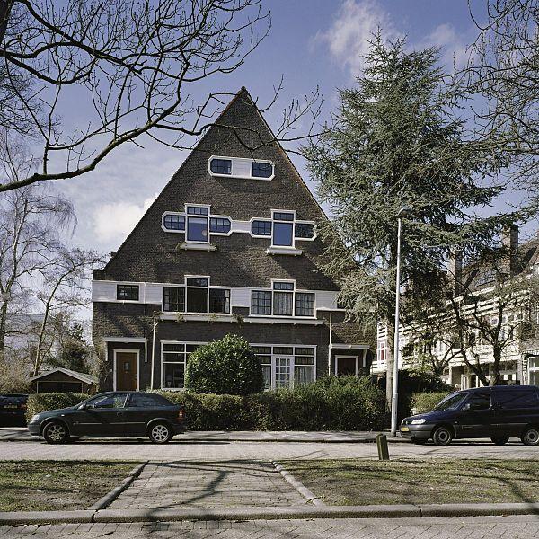 File overzicht van de voorgevel van het dubbel woonhuis for Wijk in rotterdam