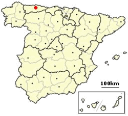 Location of Oviedo