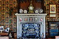 Oxburgh Hall- The fireplace in the library (geograph 4473072).jpg