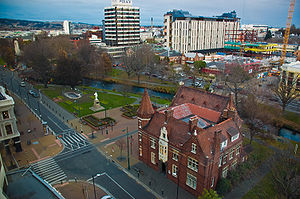 A view of part of Christchurch's central busin...