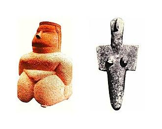 Giants of Mont'e Prama - Sardinia, Ozieri culture, 3300 — 2700 BC. Mother Goddess in Volumetric and Geometric style.
